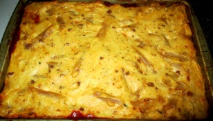 fresh from oven pastitsio